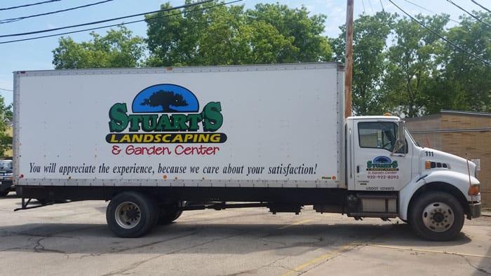 Stuarts_Landscaping_Large_truck_Passenger_side